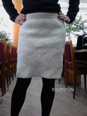 Вязать теплую юбку крючком для