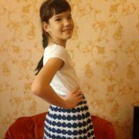 Юбка для девочки крючком — работа Арины