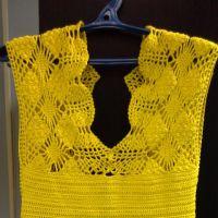 Вязаное крючком платье — работа Ольги