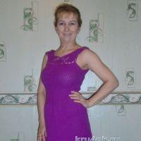 Женское платье крючком — работа Оксаны