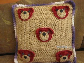 Декоративные подушки – работы Марины. Вязание крючком.