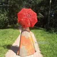 Вязаные крючком зонты — работы Нины
