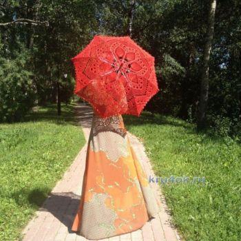 Вязаные крючком зонты – работы Нины. Вязание крючком.