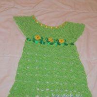 Детское платье крючком — работа Натальи Трусовой