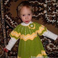 Детское платье крючком — работа Ирины
