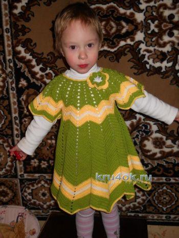 Детское платье крючком – работа Ирины. Вязание крючком.