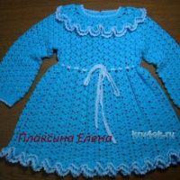 Вязаное крючком платье для девочки — работа Елены