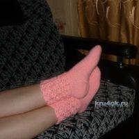 Вязаные крючком носки — работа Анастасии