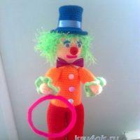 Вязаный крючком клоун — работа Тамары