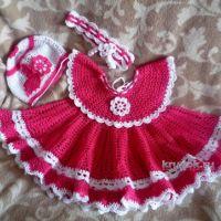 Детские платья крючком — работы Елены