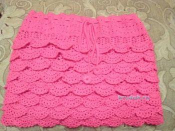 Вязаная крючком юбка для девочки – работа Оксаны Усмановой. Вязание крючком.