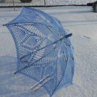 Ажурный зонт крючком — работа Елены