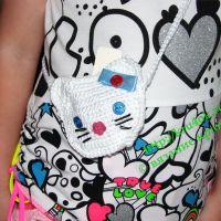 Вязаная сумочка «Китти»
