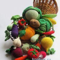 Овощи связаны крючком — работы Алены