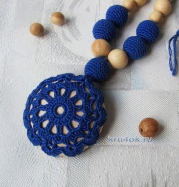 Слингокулон Джинс - вязаное украшение для мам