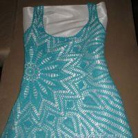 Вязаное крючком платье — работа Галины Любашовой