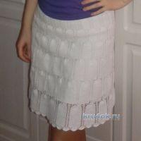 Вязаная крючком юбка — работа Алины
