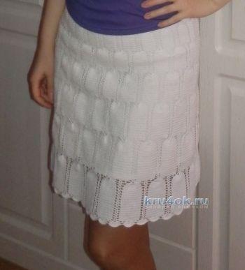 Вязаная крючком ажурная юбка - работа Алины