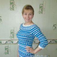 Вязаное крючком платье — работа Оксаны