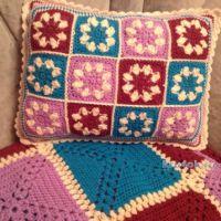 Вязаный чехол для подушки — работа Татьяны Ивановой