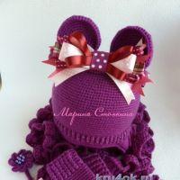Вязаные крючком шапочки — работы Марины Стоякиной