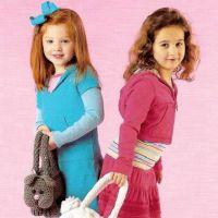 Вязаные сумки для девочек. Часть 1