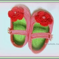 Пинетки — туфельки, связанные крючком