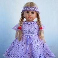 Комплект для девочки — работа Валентины Литвиновой