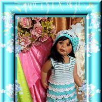 Платье и берет для девочки — работа Ирины Кангаш