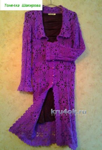 Ажурное пальто - работа Антонины