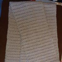 Ажурный шарф крючком — работа Елены
