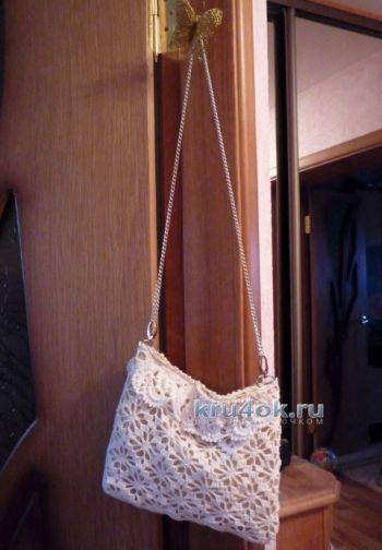 Вязаная крючком сумочка — работа Татьяны. Вязание крючком.