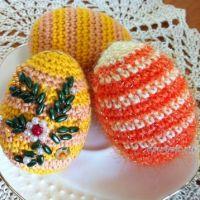 Пасхальное яичко крючком — работа Надежды Борисовой