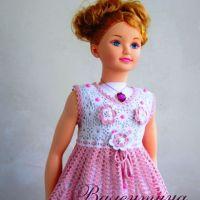 Платье для девочки — работа Валентины Литвиновой