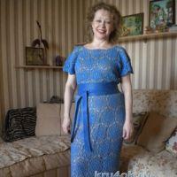Вязаное крючком платье — работа Марии