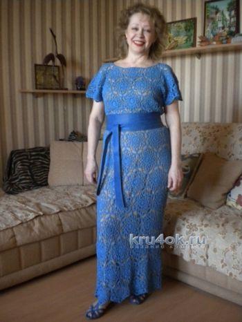 Вязаное крючком платье - работа Марии