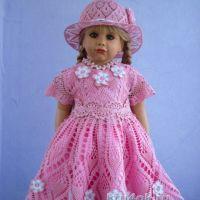 Платье и панамка для девочки - работы Валентины Литвиновой