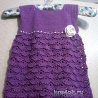 Вязаное платье для девочки — работа Юлии