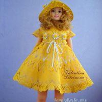 Платье и шляпка для девочки — работы Валентины Литвиновой
