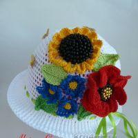 Детская шапочка крючком — работа Марины Стоякиной