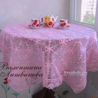 Скатерть крючком — работа Валентины Литвиновой