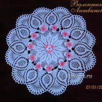 Вязаная крючком салфетка — работа Валентины Литвиновой