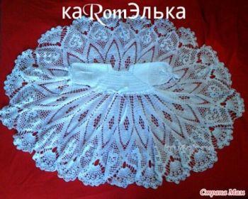 Детское платье крючком – работа кaRomЭлькa. Вязание крючком.