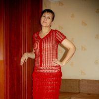 Вязаное крючком платье — работа Анжелы