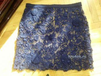 Юбка в технике ирландского кружева &amp;#8211; <u>вязать юбка ананас с крючком</u> работа Людмилы Максютовой. Вязание крючком.