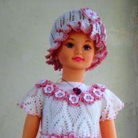 Платье и панама — комплект для девочки крючком