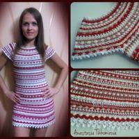 Вязаное крючком платье — работа Тихомировой Анастасии