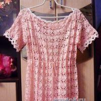 Платье крючком — работа Татьяны