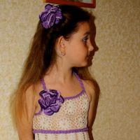 Ажурное платье для девочки — работа Ефимии Андреевских