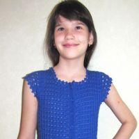 Ажурное платье для девочки — работа Арины